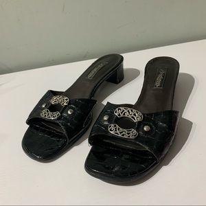 brighton slides belt heels